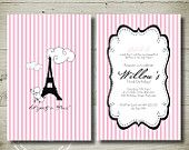 PARIS & POODLES personalised invitation by theparchmentplace