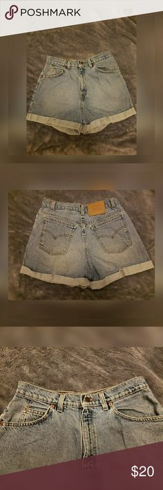 Denim Levi's shorts Previously worn but still in perfect condition. 100% cotton, non stretch denim. Levi's Shorts