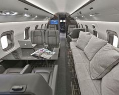 The New Trends: Luxury Private Jet Interiors Jets Privés De Luxe, Luxury Jets, Luxury Private Jets, Private Plane, Private Jet Interior, Luxury Interior, Interior Design, Moto Home, Luxury Helicopter