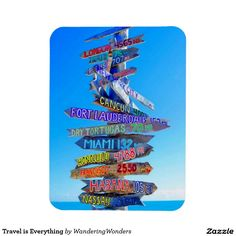 Travel is Everything Rectangular Photo Magnets (x5)