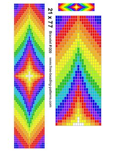 beading loom patterns for free | Native American Beading Pattern - loom - Rainbow Colors ... | Bijoux