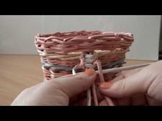▶ плетение из газет ручка, тесьма узор №2 weaving newspapers - YouTube
