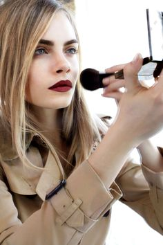 Burberry Beauty Lip Velvet - Cara Delevingne Vogue UK. She went to school with my friend haha. Mad.
