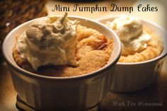 Mini Pumpkin Dump Cakes ~ everything (including the cake mix) is completely from scratch.