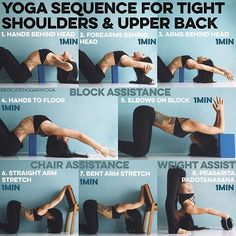 YOGA SEQUENCE FOR TIGHT SHOULDERS & UPPER BACK  A lot of you asked for a…