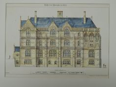 St. Peter's Orphanage, Broadstairs, England, 1873, Original Plan. J.P. Seddon.