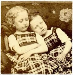 A girl with her dead sister