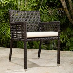 source outdoor matterhorn dining arm chair with cushion allmodern furniture napa bar side c