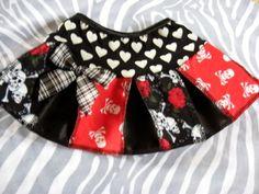 New Girls Black White Pink Purple Funky Skulls Skirt gothic Party gift pirate