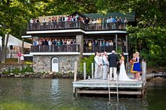 Wedding Ceremony On A Dock ??  Maybe we could build a smaller dock beside where we put in the jet skis
