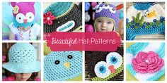 Beautiful Hat Patterns by Daisy Cottage Designs. This site has all kinds of free patterns!!