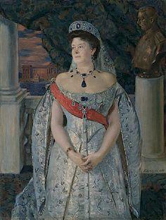 Grand duchess Vladimir AKA Maria Pavlovna the elder in her sapphire parure