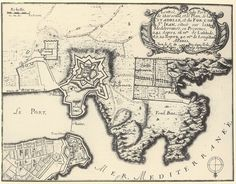 Plan du Vieux port de Marseille - 1695