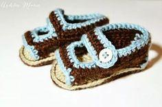 sandali neonato uncinetto