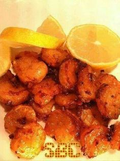Jennifer Lankford Ritch Honey Lemon Shrimp Serves 2 1/2 pound large shrimp, peeled and deveined 1/4 cup olive oil 2 T honey Juice of one small lemon, or half a large lemon (2-3 T) Zest of one small lemon or half a large lemon 2 cloves garlic, smashed 1/2 tsp kosher salt 1/4 tsp black pepper 1/4 tsp red pepper flakes  1.) In a large Ziploc bag, combine all the marinade ingredients. When everything is well-combined, add the shrimp, squeeze as much air as possible out of the bag, and close it…