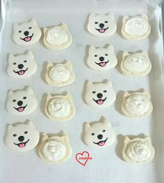 Loving Creations for You: 'Kenji the Fluffy Dog' Macarons with Vanilla Swiss Meringue Buttercream