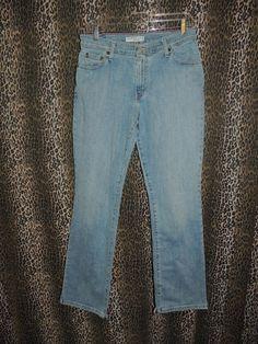 Levi's Struass Women's 550 Relaxed Boot Cut Stretch Denim Blue Jeans Size 8M HOT #Levis #BootCut