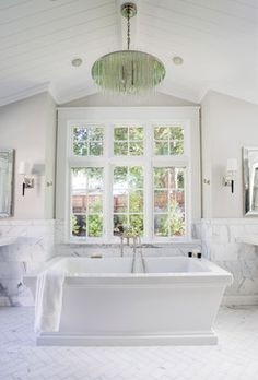 Traditional Bathroom by Los Altos Architects & Designers Design Discoveries Decorator White by Benjamin Moore