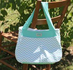 Hobo bag purse  Turquoise chevron white hobo style handbag,Handmade handbag,Fabric Handbag Everyday Handbag,Shoulder handbag, Boho handbag by Prinilla on Etsy
