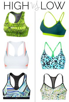 High vs. Low Impact Sports Bras. Need to check out Nike Women's Pro Hypercool Compression Printed Sports Bra. $25 is a steal compared to what I usually pay!