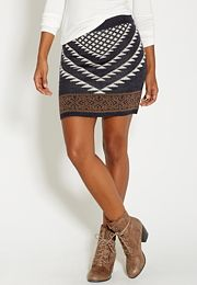 sweater skirt in triangular pattern - #maurices