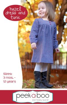 Peek-a-Boo Pattern Shop - Hazel Dress and Tunic, $7.95 (https://www.peekaboopatternshop.com/hazel-dress-and-tunic/)