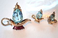 Extremely RARE Coro Craft ALADDIN'S LAMP Pin & Earrings Sterling 1940s   Jewelry & Watches, Vintage & Antique Jewelry, Costume   eBay!