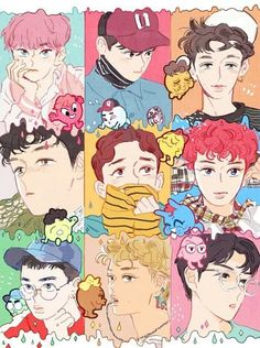 Shared by Killer Doll. Find images and videos about kpop, exo and baekhyun on We Heart It - the app to get lost in what you love. Baekhyun Fanart, Chanyeol Baekhyun, Exo Chen, Exo Kai, Kpop Exo, Fan Art, Exo Lucky One, K Pop, Kpop Anime