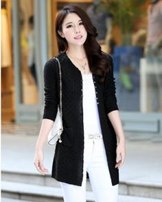 TC000646 Korean style cardigan air conditioning sweater for women