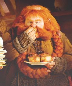 Bombur - does he need a cheese cutter? No, he eats 'em by the block!