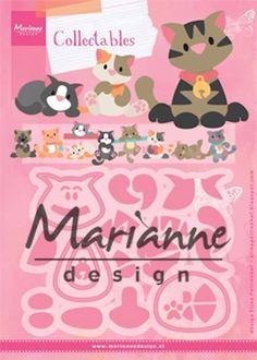 Marianne Design - Die - Collectables - Eline's kitten - COL1454 Knutselruimte AGUINIJ