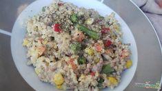 bulgur, egyszerű, gyors, krémsajt, ebéd Fried Rice, Risotto, Grains, Salad, Healthy Recipes, Ethnic Recipes, Food, Bulgur, Essen