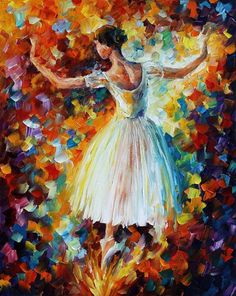 The Symphony Of Dance — PALETTE KNIFE Oil Painting on Canvas by Leonid Afremov, $239.00