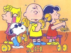 workin' out with snoopy and the peanuts gang
