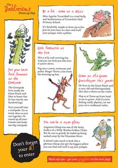 How to dress up as a Roald Dahl character - ideas and tips