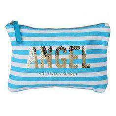 Victoria's Secret Angel Cosmetic Pouch (Blue/White)