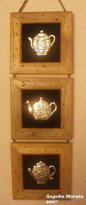 Framed teapots.