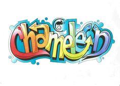 D.Antram's Chameleon Logo Graffiti