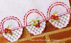 Trio de Cestinhas com Moranguinhos para Panos de Prato ou Copa! Perfeito para decorar a cozinha ! Aqui---> Gráfico