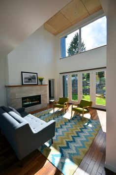 Hive Architecture | X-Line 014 | Calgary, AB | modern living room