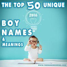 50 Most Unique Boy Names Trends in 2016 - Unique Baby Boy Names