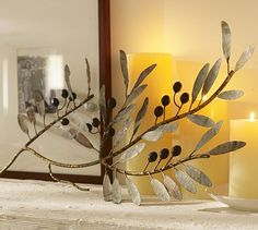 Metal Olive Branch Wall Art #potterybarn  Like this!  Especially because we have an olive orchard! :D