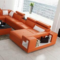 Stylish Design Furniture - Divani Casa 6138 Modern Orange and White Bonded Leather Sectional Sofa, $2,208.00 (http://www.stylishdesignfurniture.com/products/divani-casa-6138-modern-orange-and-white-bonded-leather-sectional-sofa.html)