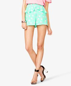 I like the idea of ice cream printed high waisted short. But I don't really like that ruffle and the close-up image of the ice cream