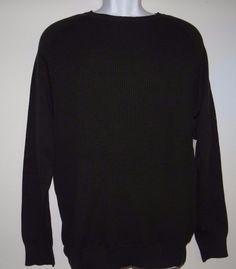 Calvin Klein Jeans  Mens 100% Cotton Crewneck Black L/S Sweater Sz M & XXL Sale #CalvinKleinJeans #Crewneck