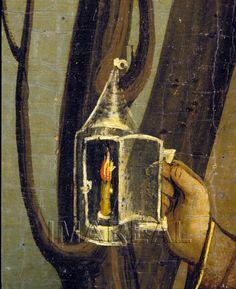 Hl. Christophorus (detail) 1460-1480; Heiligenkreuz; Österreich; Niederösterreich; Stiftssammlungen http://tarvos.imareal.oeaw.ac.at/server/images/7015240.JPG