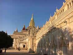 Ananda Temple in Old Bagan, Myanmar Bagan, Taj Mahal, Temple, Louvre, Building, Travel, Viajes, Temples, Buildings