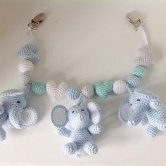 Projekt afsluttet #hækle #hæklet #hækling #baby #babyboy #elefant #barnevognskæde #barnevognsophæng #barnevognspynt #babyelefant #amigurumi