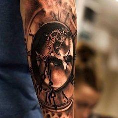 sleeve more 3d tattoo awesome tattoo clock tattoo amazing tattoo clock ...