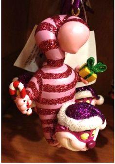 Disney Park Cheshire Cat Figurine Christmas Ornament | eBay
